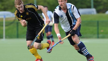 Hampstead & Westminster's Olympian Dan Fox (right) in action against Beeston in last year's EHB Cup