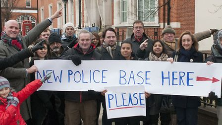 Campaigners led by Simon Marcus are calling for the annexe at Hampstead police station to be convert