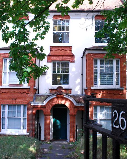 The cottage building at 26 Rosslyn Hill, which is next to the existing Hampstead Police Station. Pic