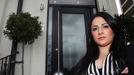 Marilena Kambouri, manager of Queens Hotel of Seven Sisters Road, is upset after Hackney police left