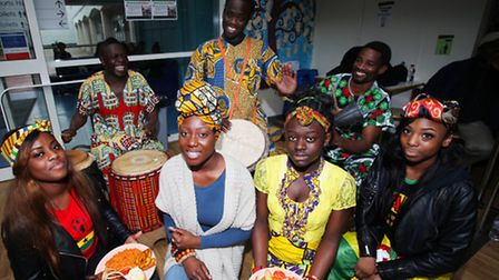Students at BSix Brooke College celebrate the 56th anniversary of Ghana Independence Day.