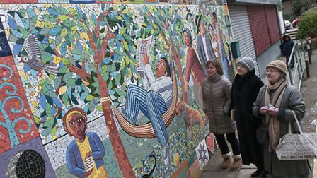 Campaign to save Fleet Community centre mural,the mural is under threat because Camden are going to