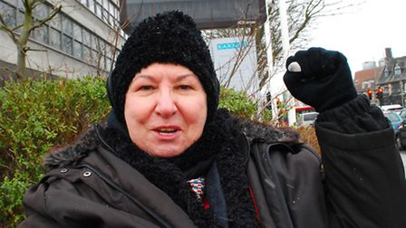 Campaigner Maria Nash outside Barnet House in Whetstone. Picture: Polly Hancock.