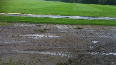 The damaged cricket pitches last week