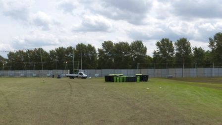 Conditions on Hackney Marsh in the aftermath of the Hackney Weekend festival