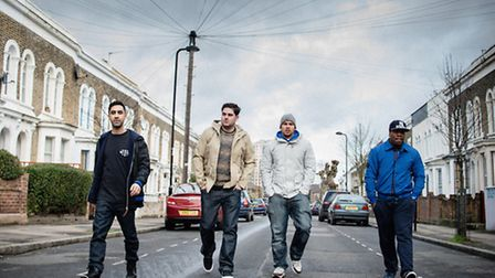 Amir Amor, Piers Aggett, Kesi Dryden and Leon Rolle from Rudimental