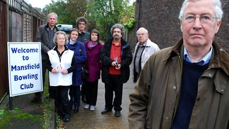 Residents including (from left) Keith Northrop, Val Day, Helen Greave, Nick Norden, Wendy Shale, Pat