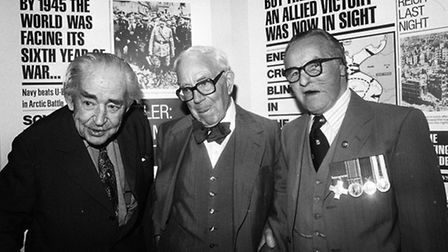 (From left) Wartime broadcaster John Snagge, war correspondent AJP Taylor, and Albert 'Ted' Heming,