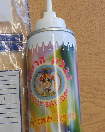 Jospeh Benett and his friends inhaled from a 'Smelly Balloon' aerosol canister bought in Israel