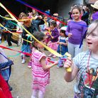 Maypole dancing at the May Day celebration at Kentish Town City Farm. Picture: Polly Hancock