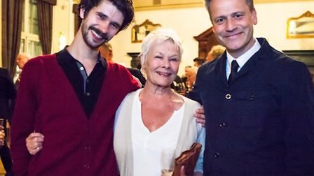 Ben Whishaw, Judi Dench and Michael Grandage at the fundraiser for Royal Central School of Speech an