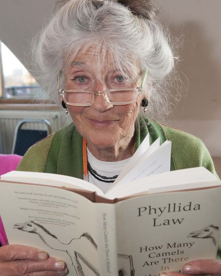 Phyllida Law talked about her book, How Many Camels Are There in Holland?, at the party. Picture: Ni