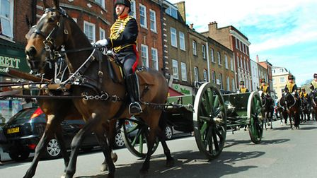 The King's Troop return to Regent's Park and St John's Wood. Picture: Polly Hancock