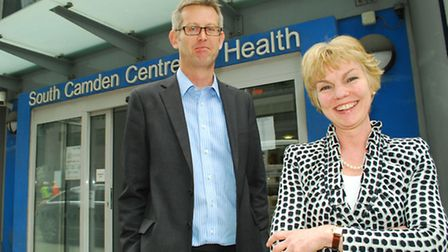 David Cryer, Chief Officer and Dr Caz Sayer, Chair of the Camden Commissioning Group.