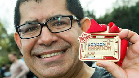 Mo Keshtgar, consultant surgical oncologist at the Royal Free Hospital, ran the marathon to fund his