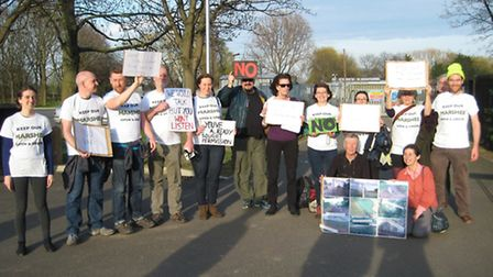 The protest at the drop-in meeting against the council's plans to hold three major events on Hackney