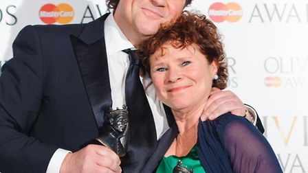 Imelda Staunton, winner of best actress in a musical at the Olivier Awards 2013 for her role in Swee