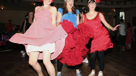 Dance-mad fundraisers move as music is played for the eight-hour Headway East London Dance Marathon