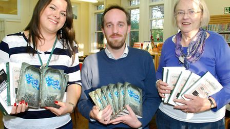 Author Andrew Blackman (centre) read excerpts from his books for World Book Night at Highgate Librar