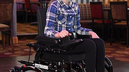 Bethany, who suffers from a connective tissue disorder, received a personalised wheelchair from Beac
