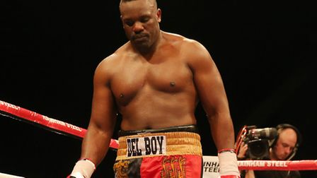 Dereck Chisora during the International Heavyweight Contest at Wembley Arena, London.