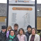 Hackney leaseholders unite. Rachel Blain right foreground. Picture by Tony Gay