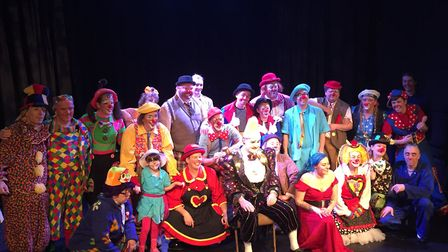 The cast of 'A Variety of Clown Comedy', which was performed at the Seagull. Photo: Seagull Theatre,