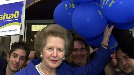 Margaret Thatcher campaigning in Golders Green 2001. Picture: Nigel Sutton