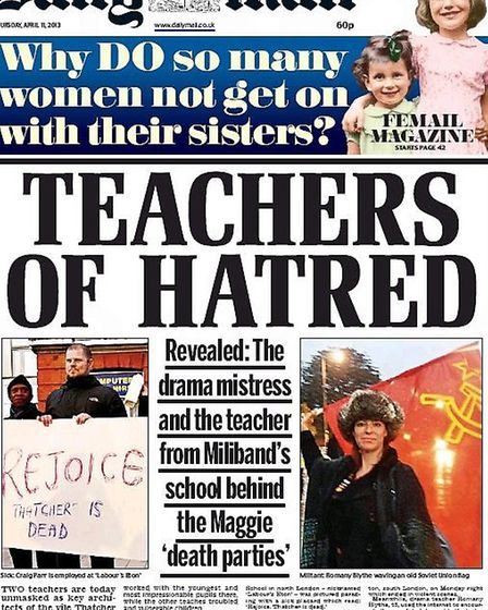Craig Parr (pictured left) was criticised on today's Daily Mail front page, along with another teach