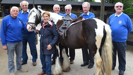Lowestoft Lions Club help the Riding for the Disabled group by buying a new horse. Pictures; Mick Ho