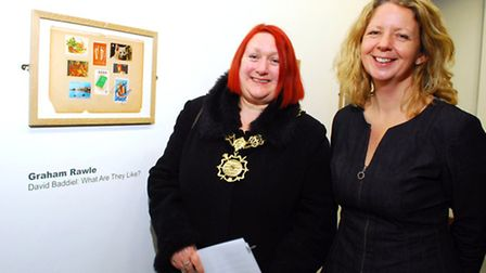 The Mayor of Camden, Cllr Heather Johnson (left), with Larissa Joy, chairman of the House of Illustr