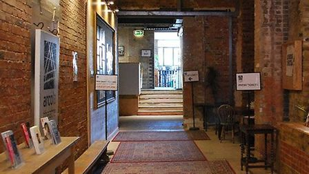 View of Arcola Theatre foyer. Picture: Sanjay Mitra