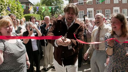 Jonathan Ross officially opened library