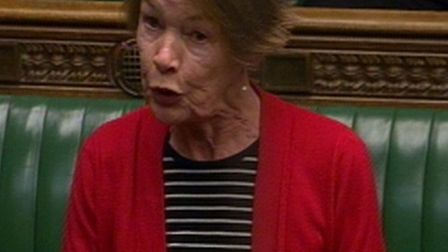 MP Glenda Jackson making her speech in the House of Commons on Wednesday. Picture: PA Wire.