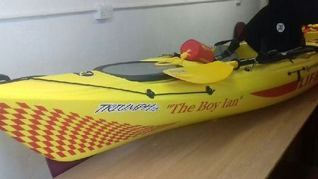 'The Boy Ian' which will be presented to Lowestoft Volunteer Lifeguard Corps on Sunday, July 16.