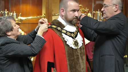 Cllr Jonathan Simpson during his last stint as mayor