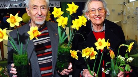 Winners Dr L Russell and Audrey Stocker at Hampstead Horticultural Society Spring Show