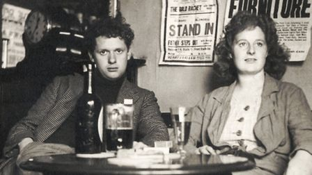 Portrait of Welsh poet Dylan Thomas with wife Caitlin Thomas. Picture: Lebrecht
