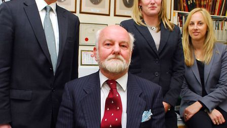 Left to right: Funeral director Andrew Leverton, chairman Clive Leverton, funeral director Pippa Lev