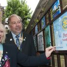 Rotary Club of Hampstead unveils tile at World Peace Garden. Eve Conway, district govenor of Rotary