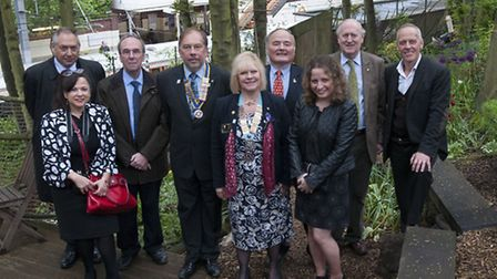 Rotary Club of Hampstead unveils tile at World Peace Garden. Picture: Nigel Sutton
