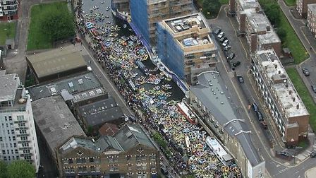 View of Canalival from Met Police helicopter