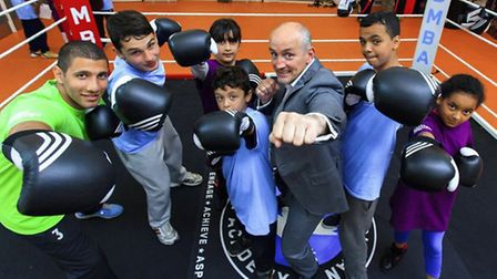 Barry McGuigan at Woodberry Down Youth Hub
