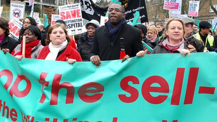 In March, thousands joined a demonstration to save the Whittington Hospital. Camden health campaigne