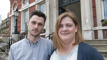 Reception teacher Lucas Motion and headteacher Vicky Briody. Picture: Nigel Sutton