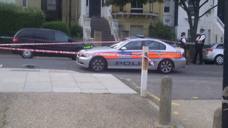Police cordon-off part of Fellows Road in Belsize Park after a man was stabbed in 2011