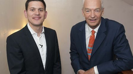 David Miliband in conversation with Jon Snow at Cecil Sharp House in aid of Primrose Hill Community