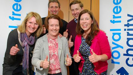 The Royal Free Charity Everest research team, (front, from left) Breda Athan, Dr Aine Burns and Jenn