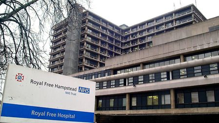 The Royal Free Hospital, where the man was taken after he was found collapsed on the pavement. Pictu