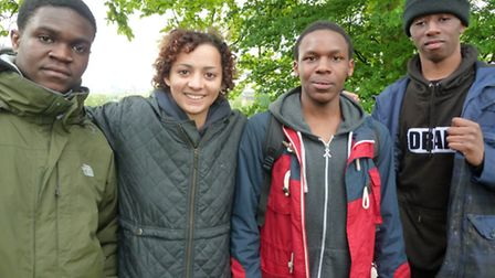 The film students on the heath. Picture: Ron Vester.